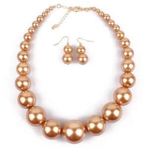 2fd0d22366d Faux pearl necklace and earring ring set. Boutique